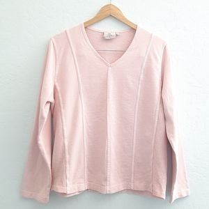 HOT COTTON BY MARC WARE Pink L/S Top Size M